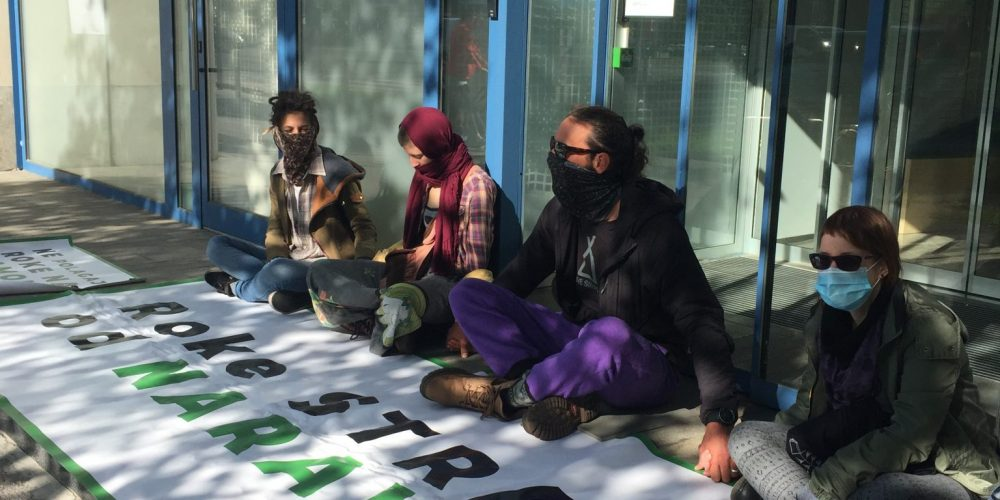 POLICE INTERVENTION AT PEACEFUL PROTEST IN FRONT OF THE MINISTRY FOR ENVIRONMENT