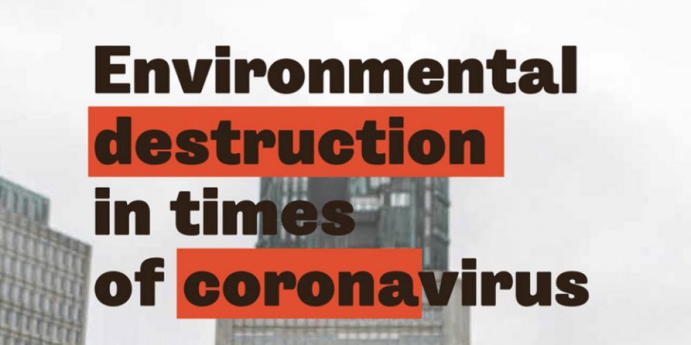ENVIRONMENTAL DESTRUCTION IN TIMES OF CORONAVIRUS: A NEW STUDY